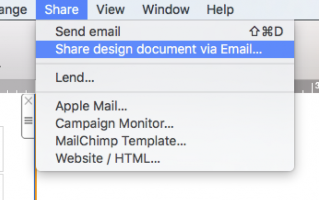 Share via email - Mail Designer – Create HTML email ...