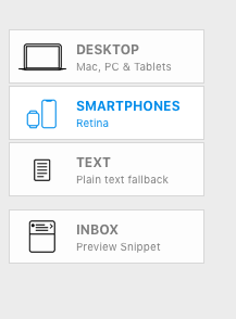 Modifying a layout block for the mobile version - Mail Designer