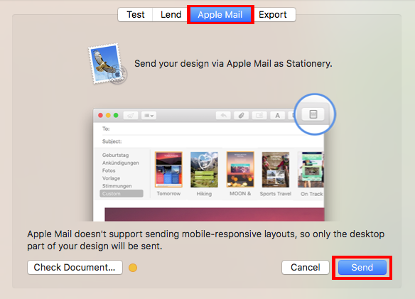 Saving Your Email Template As Stationery Within Apple Mail - Mail ...