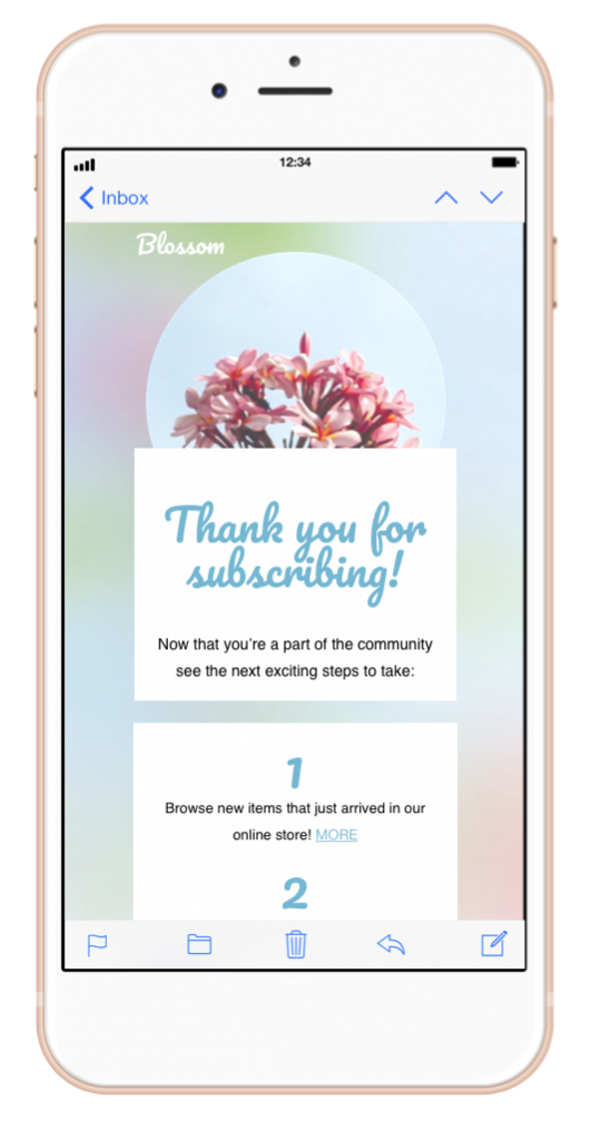 Thanking Your Subscribers With A Thank You Email Mail Designer Create Html Email Newsletters