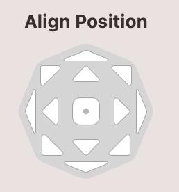Alignment tools in Mail Designer 365