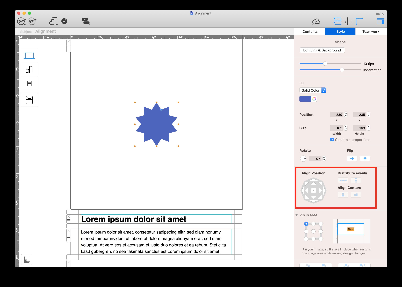 Mail Designer 365 alignment tools