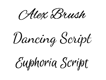 Brush style fonts