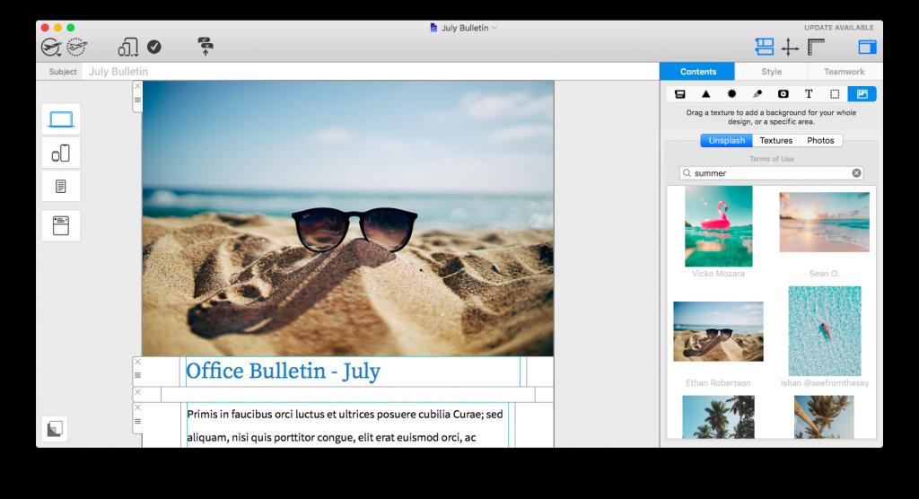 Mail Designer 365 internal newsletter ideas - Seasonal images