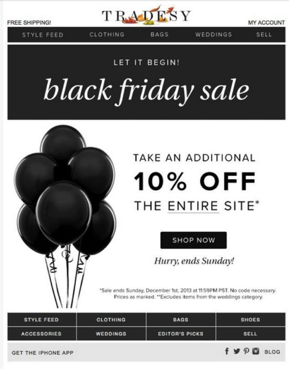 21 Awesome Black Friday Email Campaign Examples Mail Designer Create Html Email Newsletters