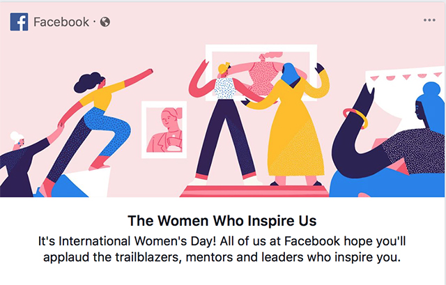 International Women's Day campaign by Facebook
