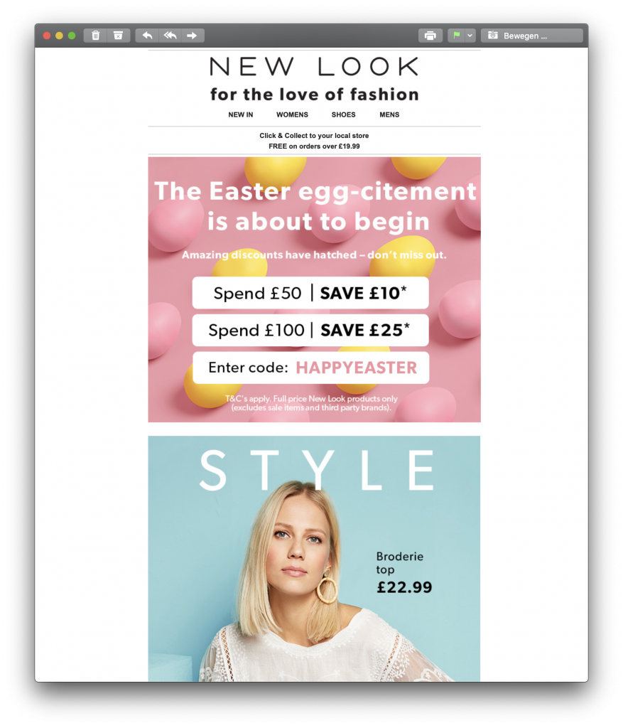 Easter promotion by New Look