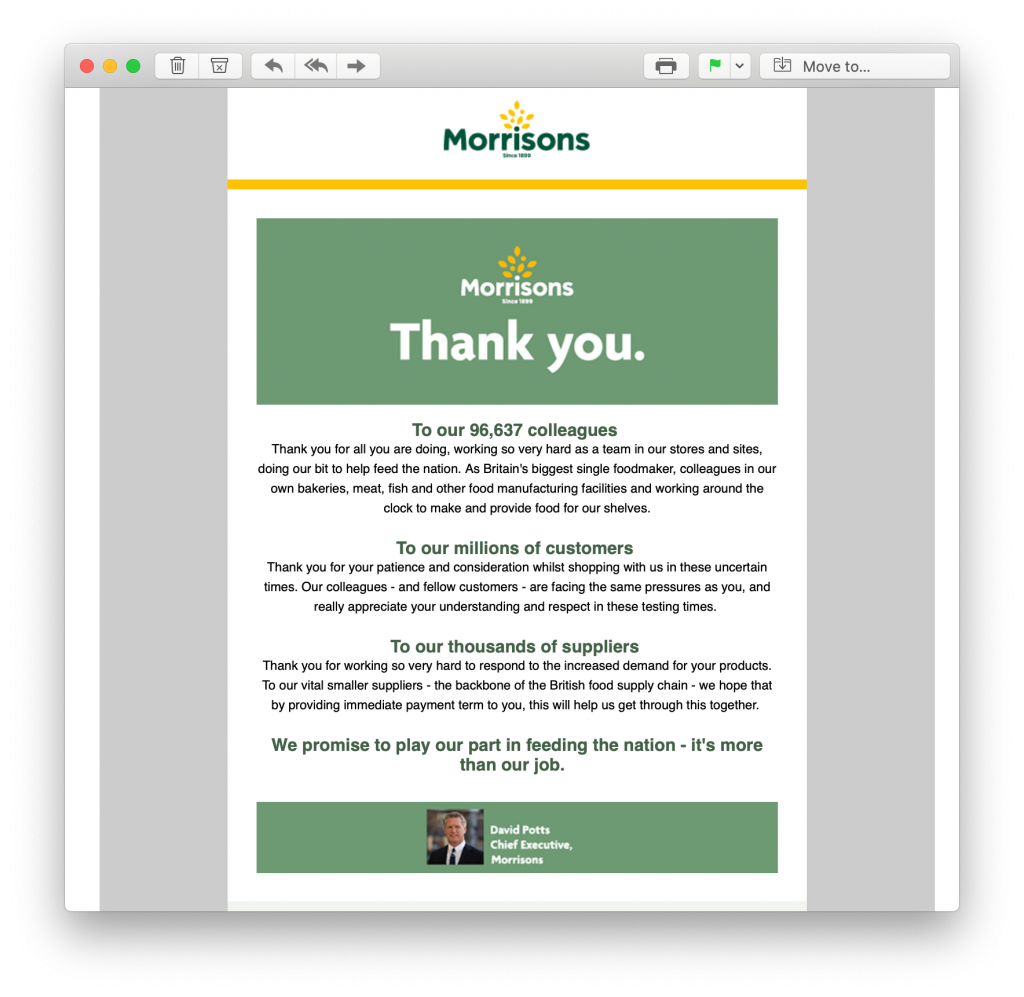 Using email marketing to support the community in a crisis