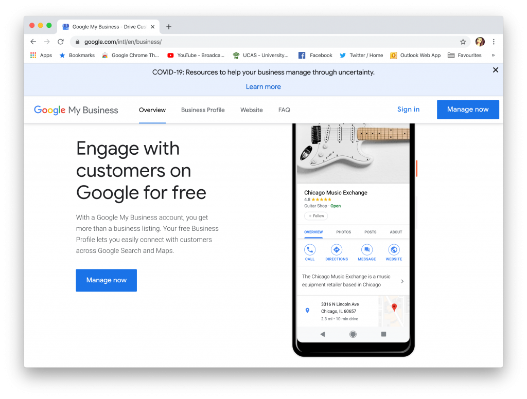 Google my Business as a small business solution for beginners