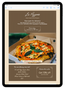 Mail Designer 365 email template for restaurant owners