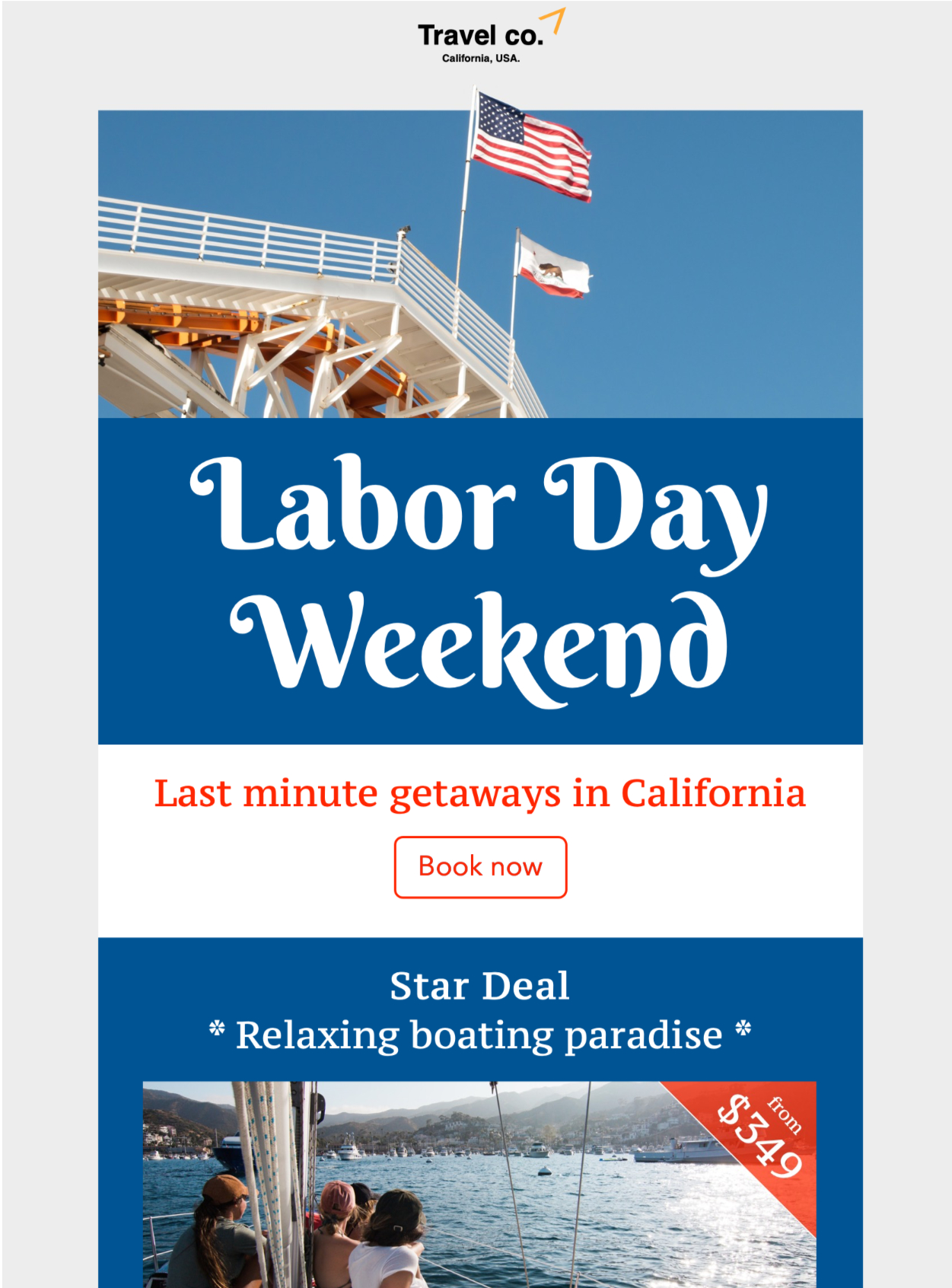 HTML email template for Labor Day