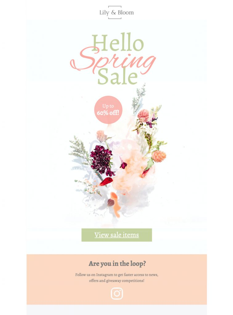 spring sale html email template