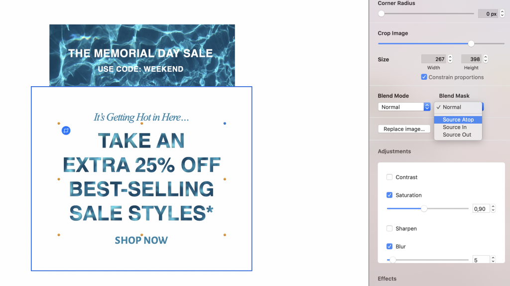 Building a Memorial Day email campaign in Mail Designer 365