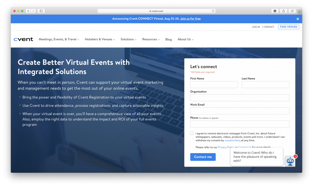 Cvent event management platform