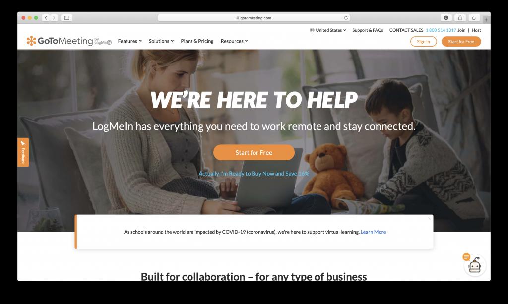 GoToMeeting online video meeting platform