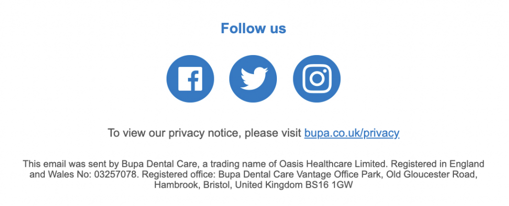 Email Disclaimer for a UK business