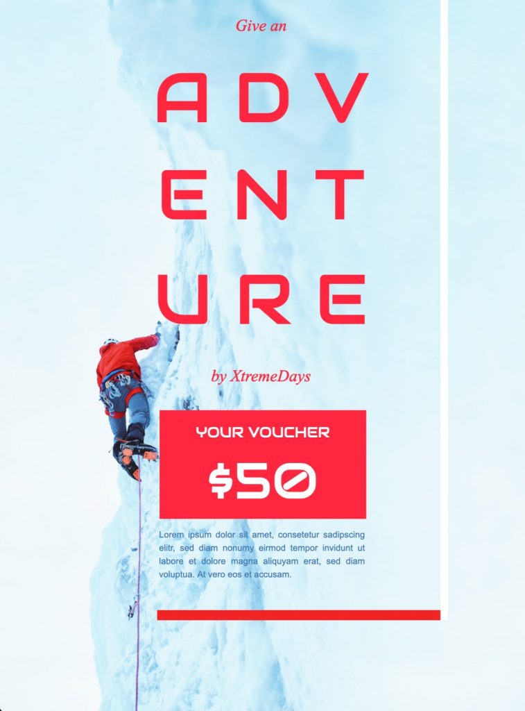 Adventure HTML email template