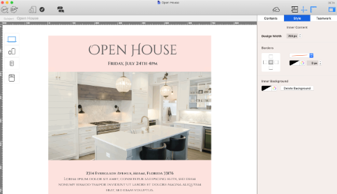 Open house email invitation for real estate