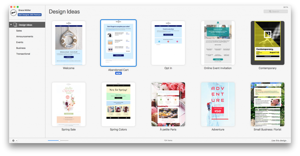 Premium Designideen in Mail Designer 365