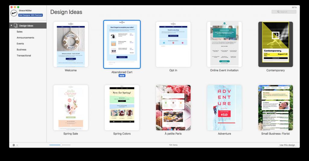 Premium HTML email templates in Mail Designer 365