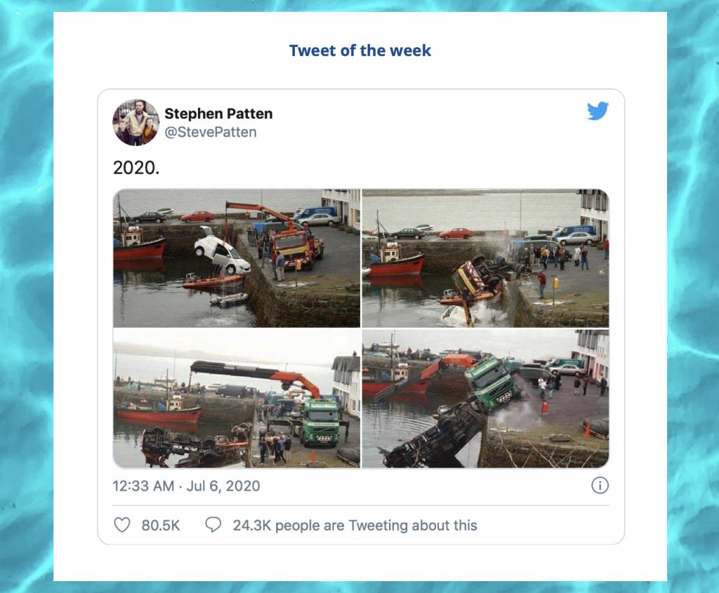 Tweet of the week segment in our weekly internal newsletter
