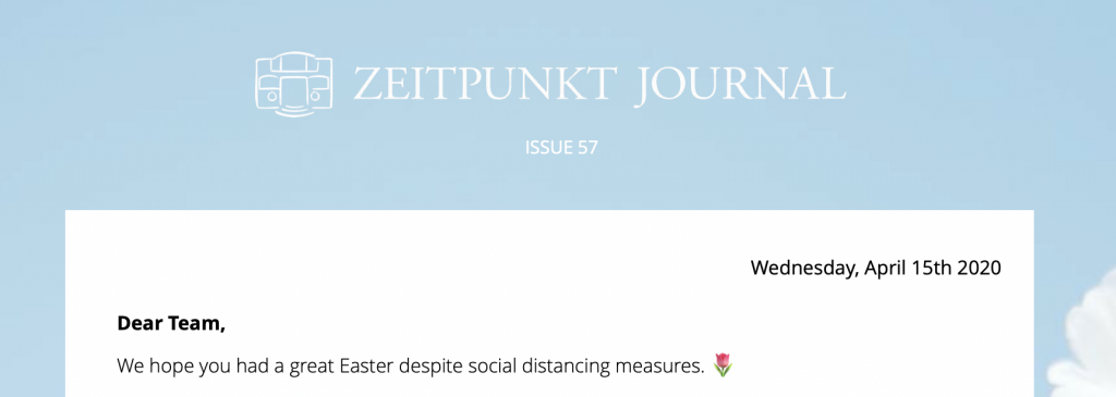 Zeitpunkt Journal logo and internal email header