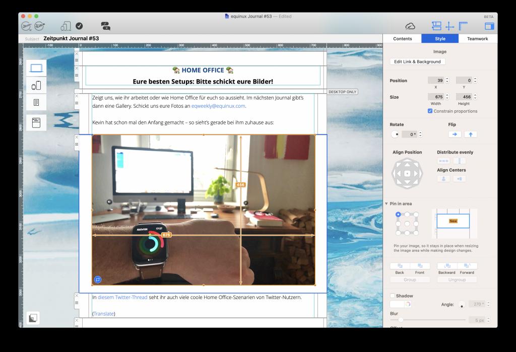 Einen internen Newsletter in Mail Designer 365 gestalten