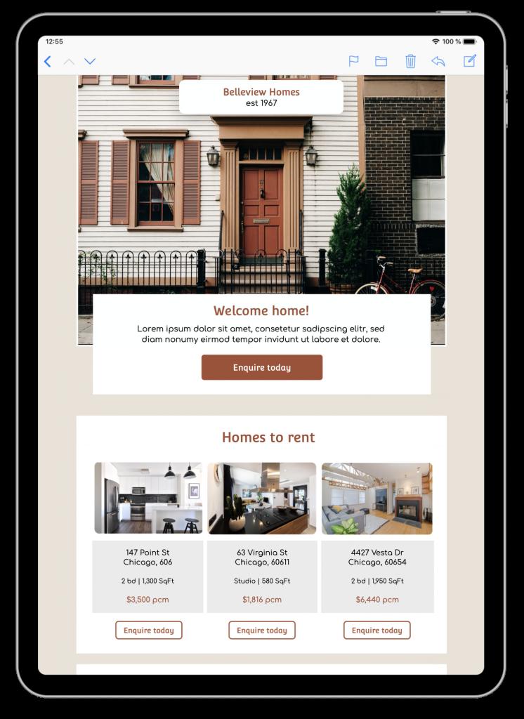 E-Mail-Template für Immobilienmakler