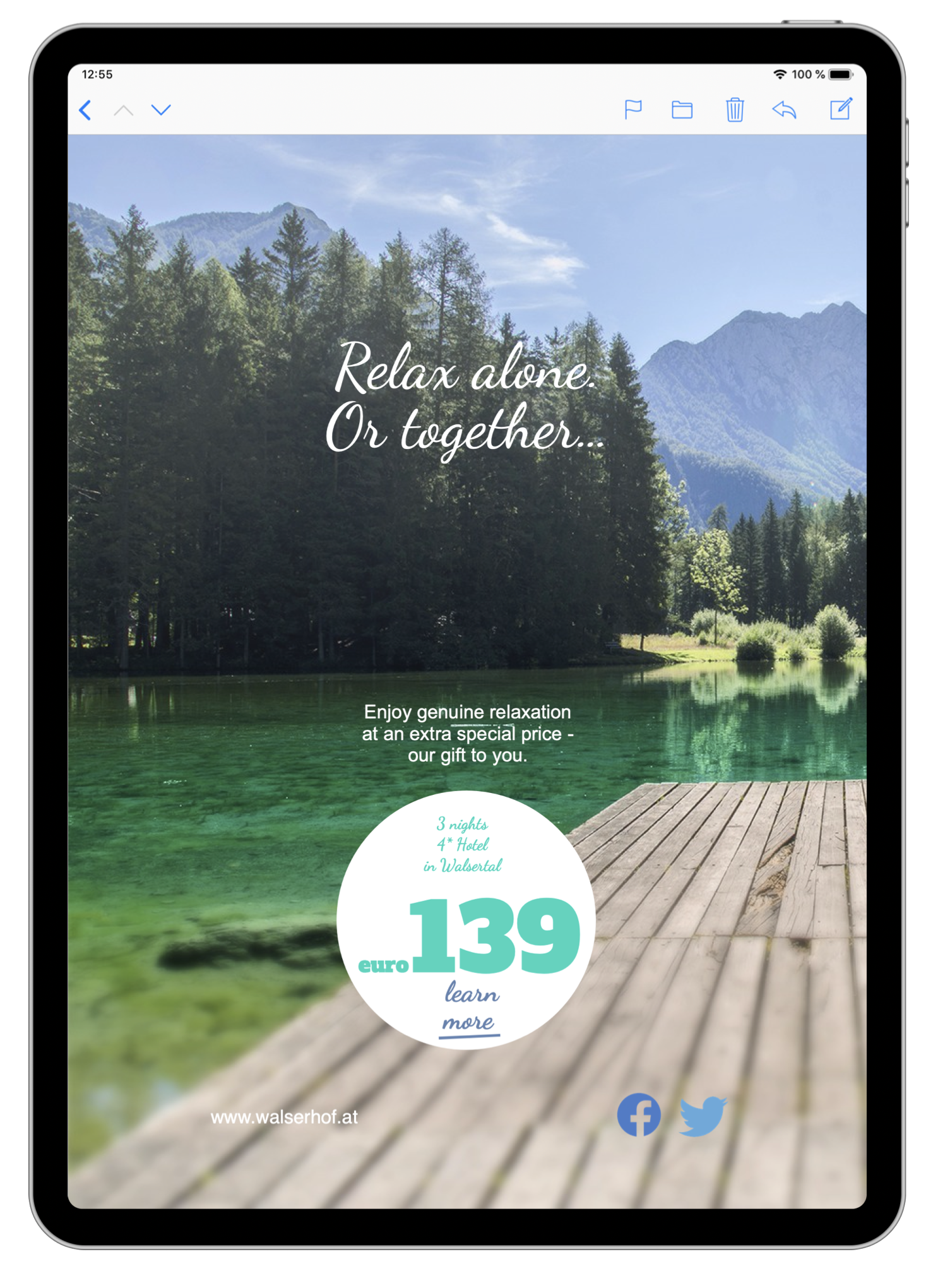 HTML email template for hotels and travel