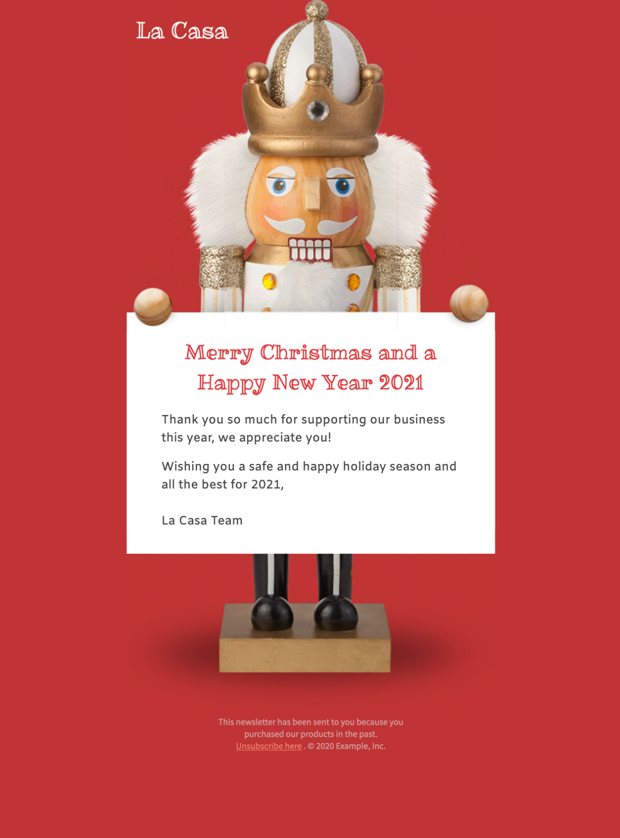 Christmas nutcracker email template