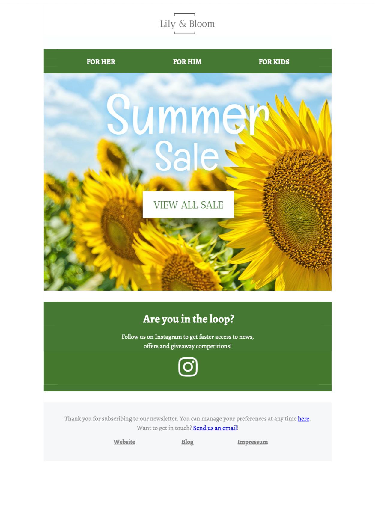 Summer sale HTML email Design Idea