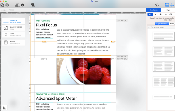 Use combi layout blocks to present news and key info