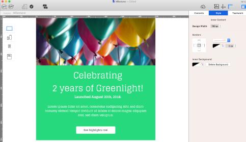Birthday email in Mail designer 365
