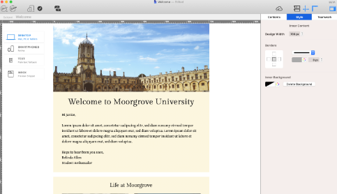 Welcome email for schools and universities