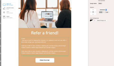 Referrals email for start ups and small businesses