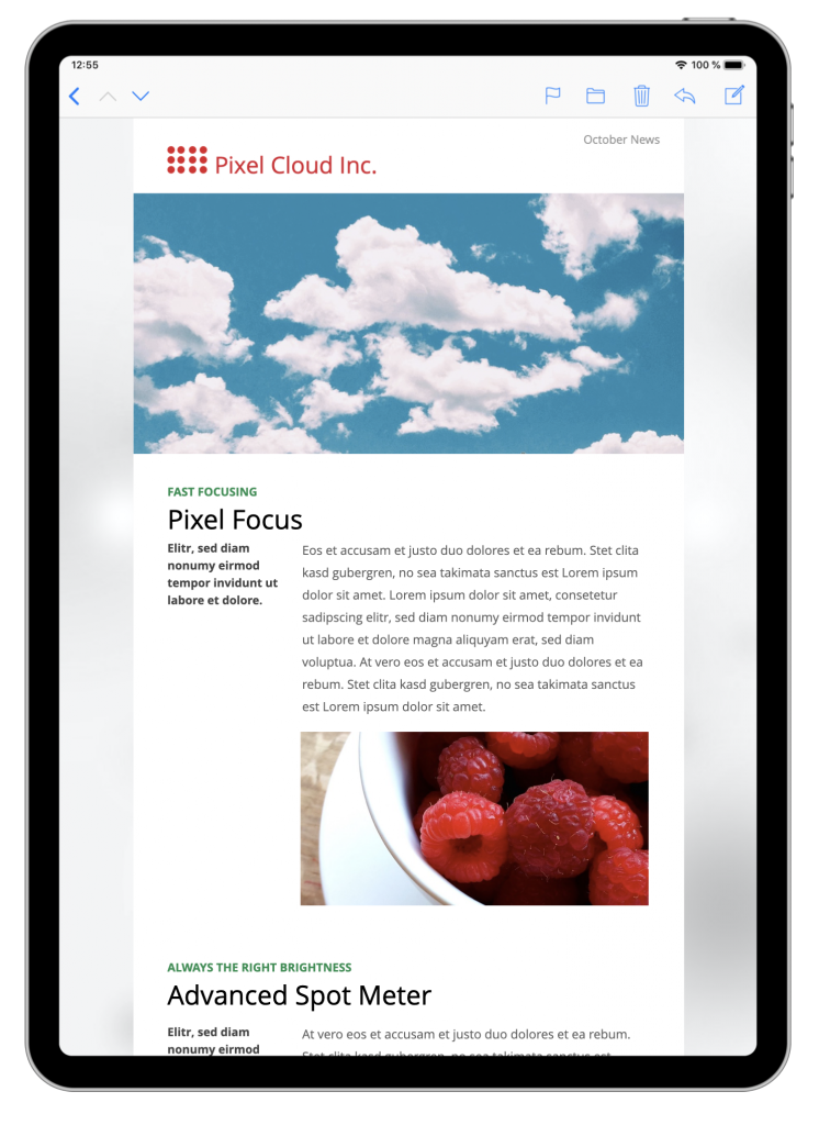 Product news HTML email for startups