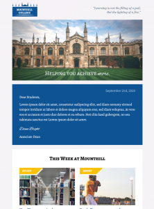 HTML email template for school newsletters