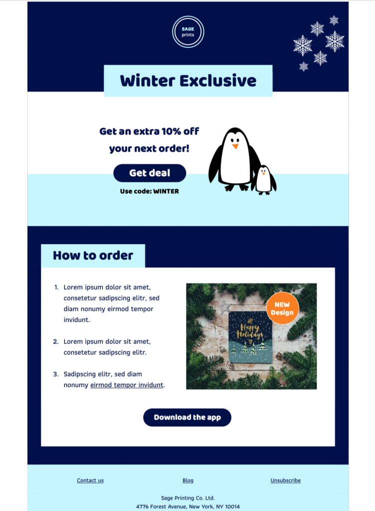 Winter Offer HTML email template