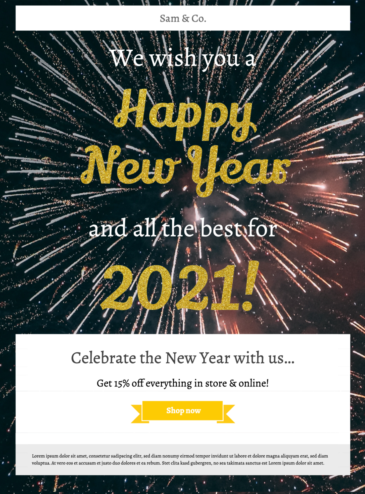 Happy New Year HTML email template