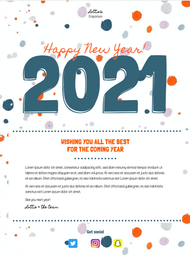 Happy New Year Message - HTML email template