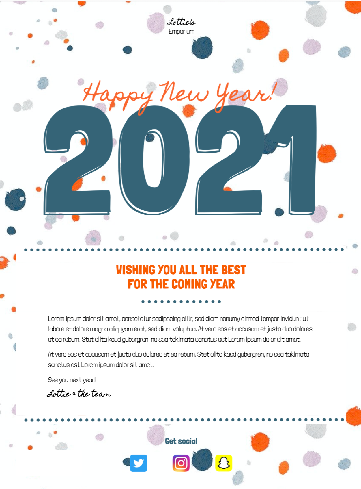 new year email template