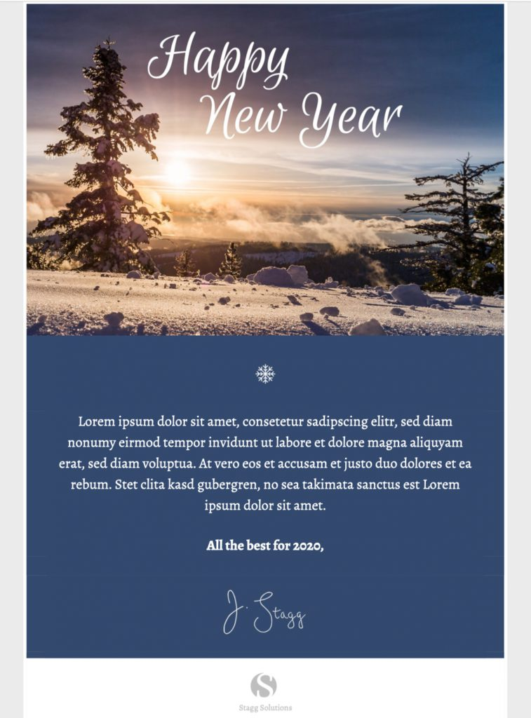 New Year Greeting HTML email template