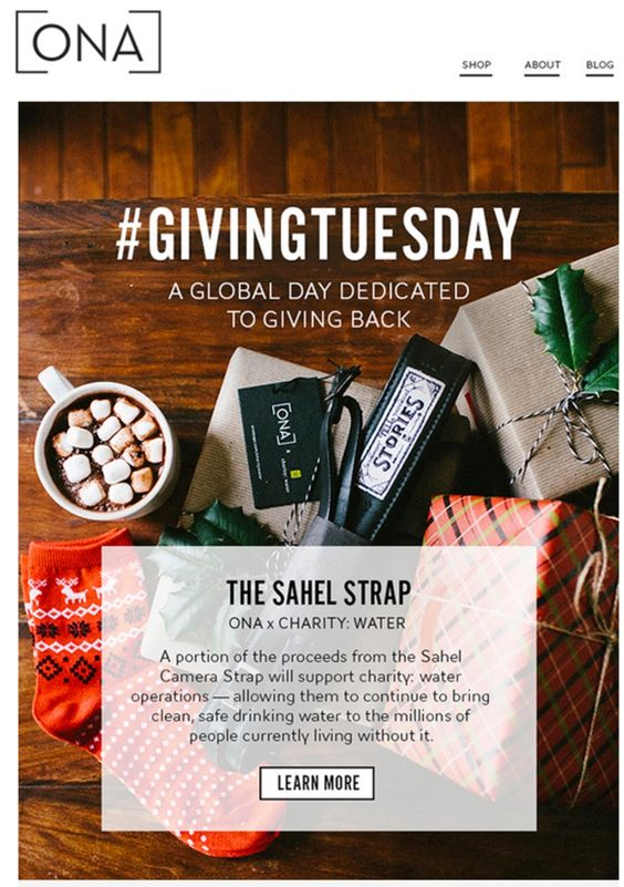 Giving Tuesday campaign by ONA