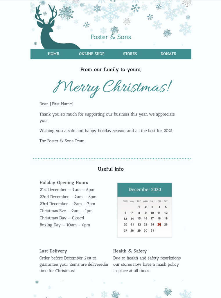 Merry Christmas HTML E-Mail-Template