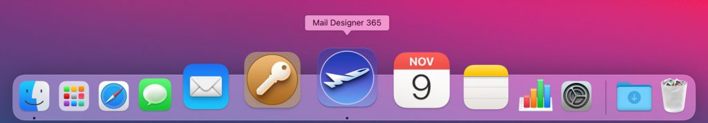 New Mail Designer 365 app icon for Big Sur