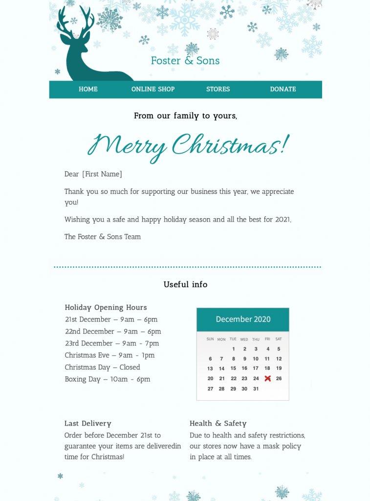 Merry Christmas HTML email template