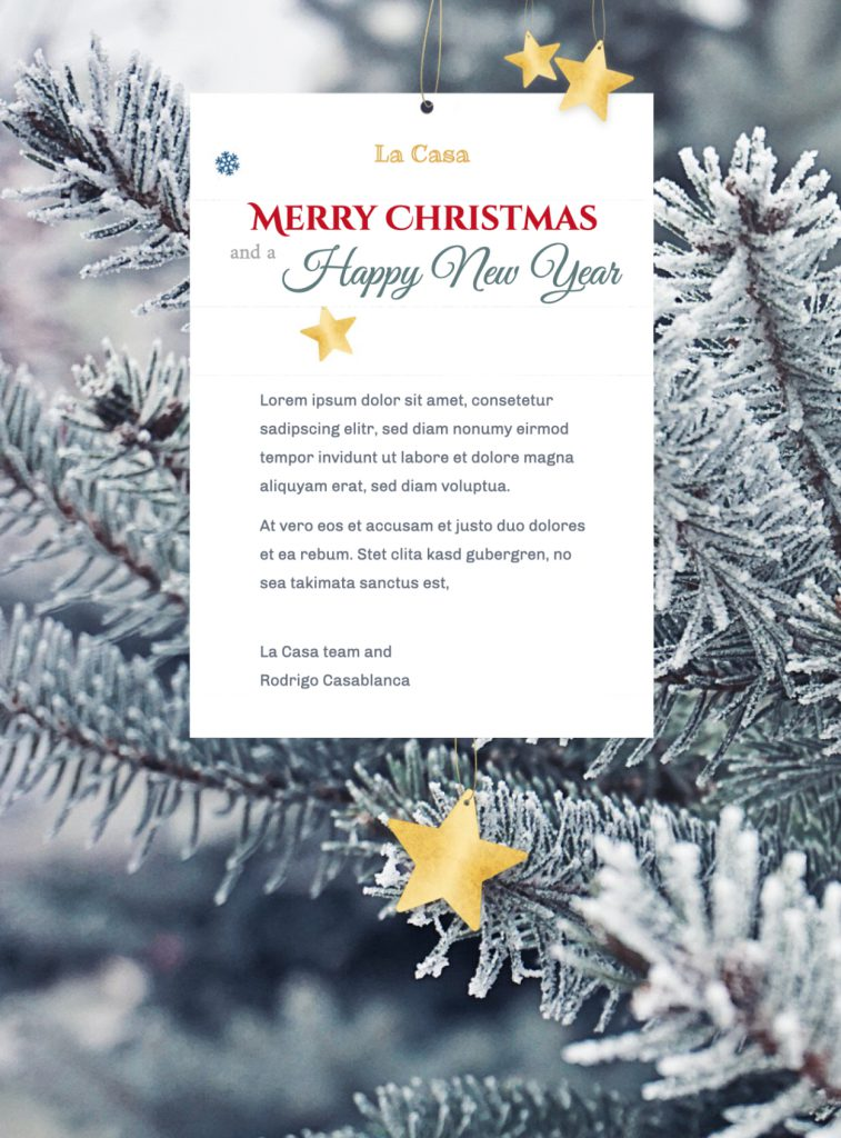 seasonal email template for businesses and shops