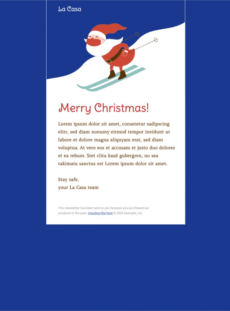 Animated Christmas email design