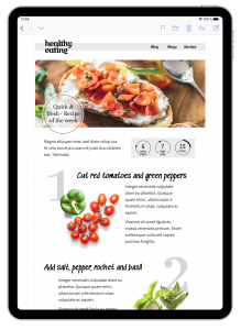 food blog email template in Mail Designer 365