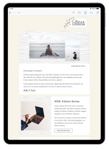 lifestyle blog email template in mail designer 365